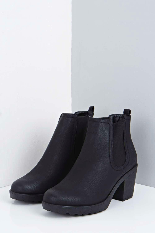 boohoo womens matilda block heel chelsea boot ebay
