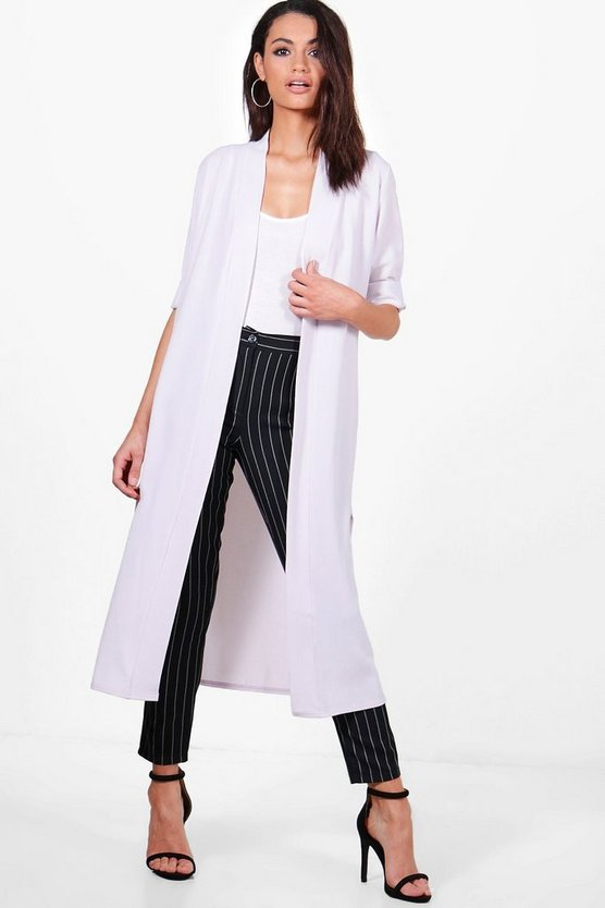Turn Up Cuff Duster Coat