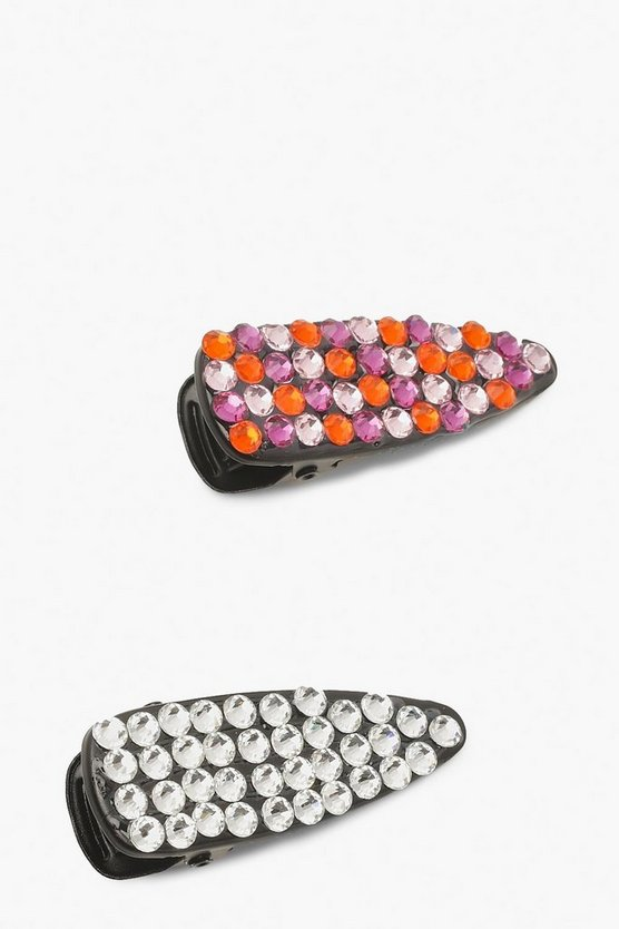 Multicolour Diamante Hair Clip 2 Pack