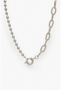 Dam Silver Linked Chain and Ball Necklace