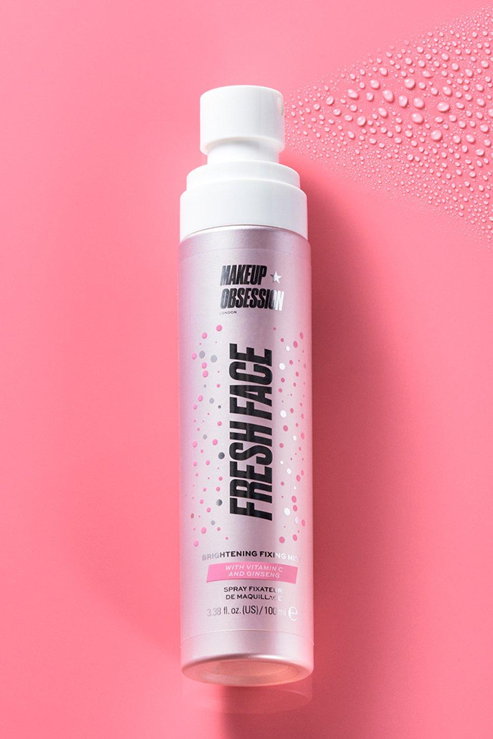 womens makeup obsession fresh face fixing mist - pink - one size