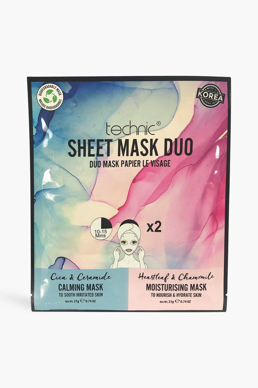 Image of Technic Maschera per il viso in tessuto calmante & idratante (Set di 2), Azzurro