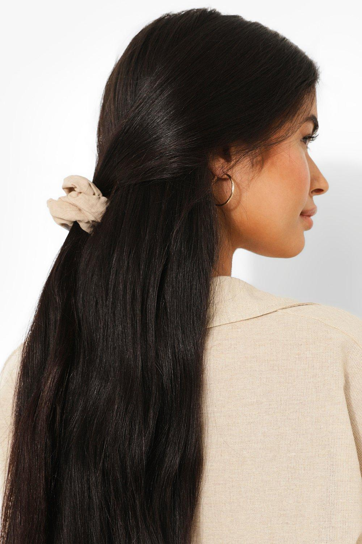 Image of Linen Scrunchie, Bianco