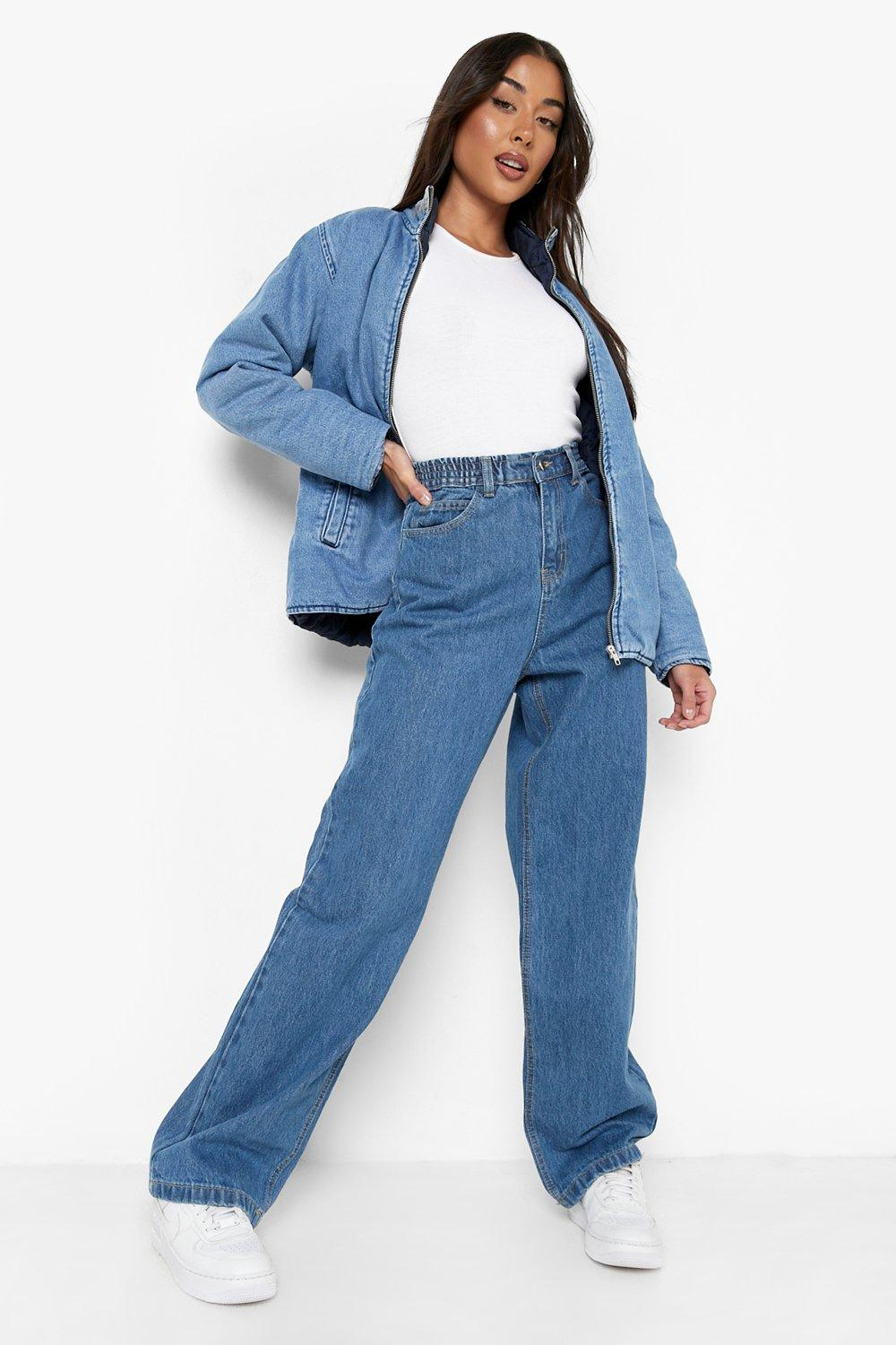 1980s Clothing, Fashion | 80s Style Clothes Womens High Rise 90S Fit Dad Jeans - Blue - 12 $20.00 AT vintagedancer.com