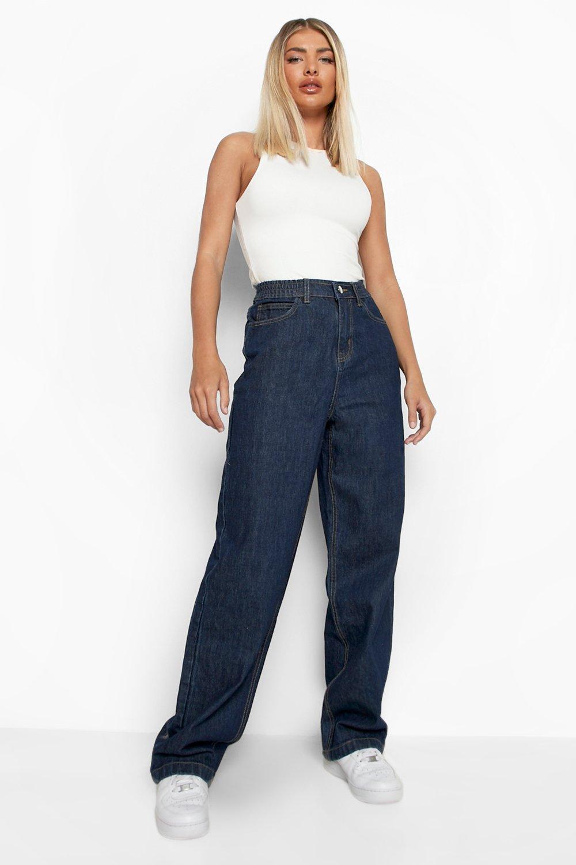 Image of Jeans a vita alta stile anni '90 taglio maschile, Grigio