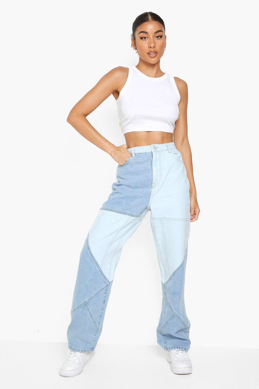 80s Jeans, Pants, Leggings | 90s Jeans Womens Patchwork Boyfriend Jean - Blue - 12 $30.00 AT vintagedancer.com