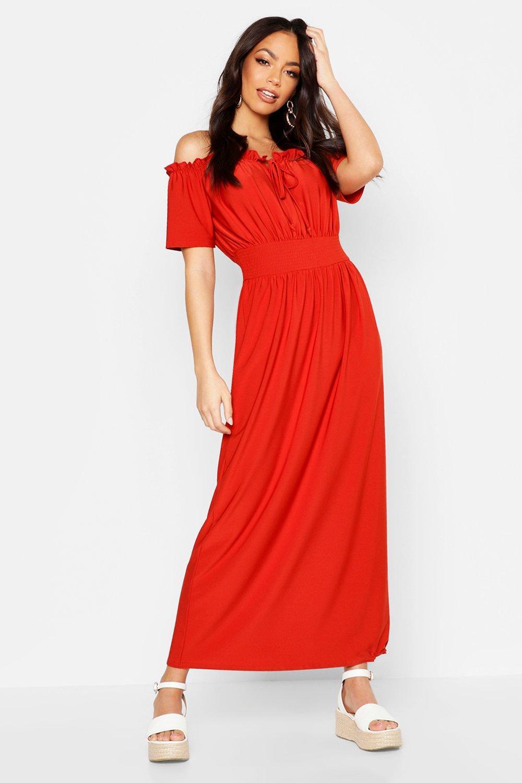 407732e78 Bardot Sheered Waist Tie Maxi Dress | Boohoo
