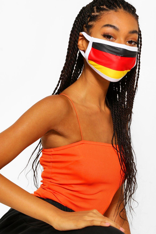 Image of Mascherina per il viso alla moda motivo bandiera tedesca, Multi