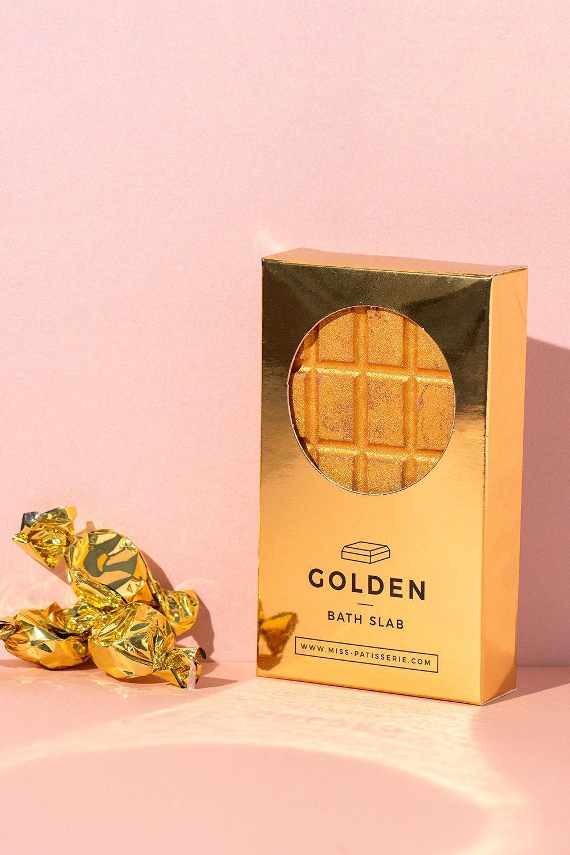 womens miss patisserie golden bath slab - metallics - one size