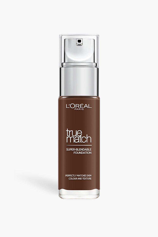 womens l'oreal true match foundation ebony - brown - one size
