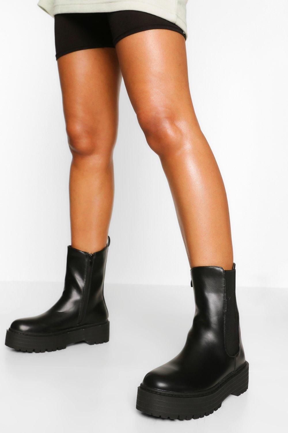 Chunky Platform Chelsea Boots