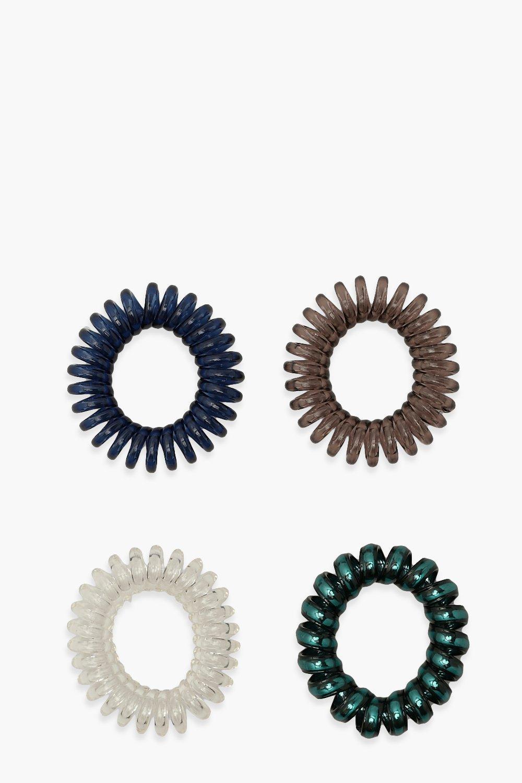 Image of Confezione con 4 elastici per capelli a spirale, Multi