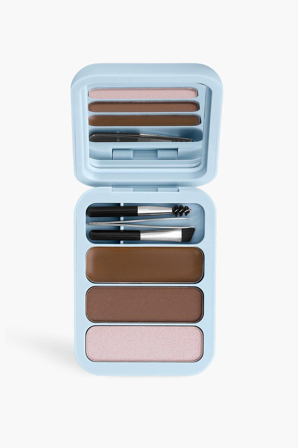 womens makeup obsession brow kit light-med brown - multi - one size