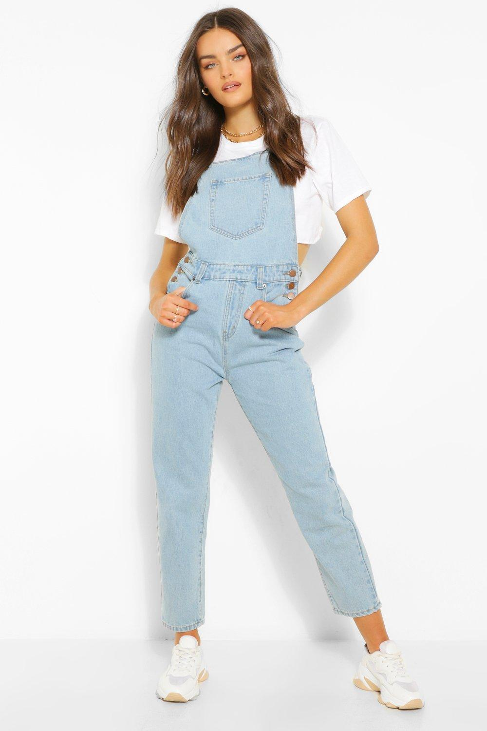 1980s Clothing, Fashion | 80s Style Clothes Womens Denim Mom Dungaree - Blue - 12 $38.50 AT vintagedancer.com