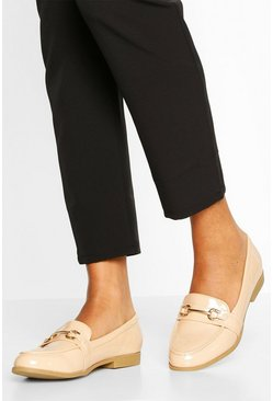 Nude T Bar Loafers