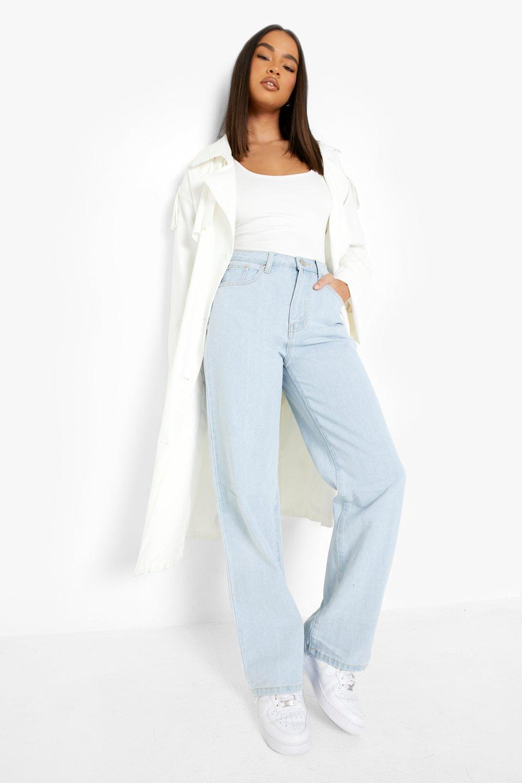 80s Jeans, Pants, Leggings Womens Denim Basic Wide Leg Jean - Blue - 12 $17.50 AT vintagedancer.com