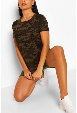 Green Camo Printed T-shirt