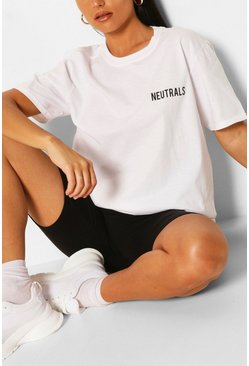 White Neutrals Slogan T-Shirt