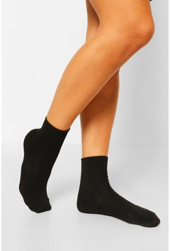 Black 3 Pack Sports Socks