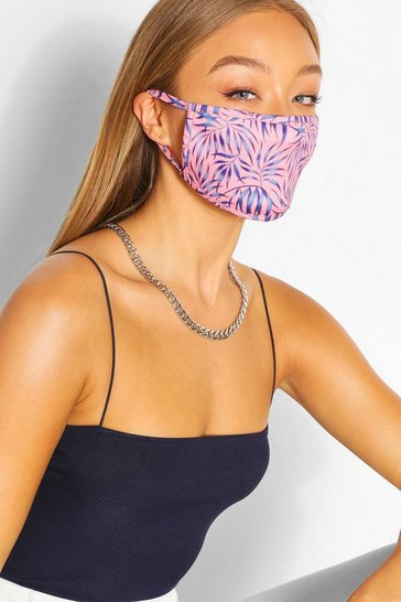 Pink Leaf Fashion Face Mask
