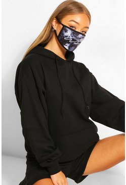 Woman Script Fashion Face Mask , Black