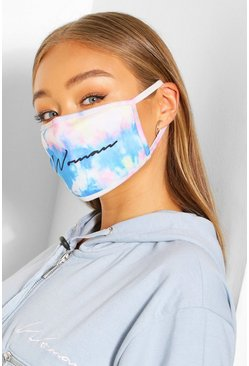 Multi Woman Script Fashion Face Mask