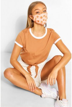 Peach Fashion Face Mask