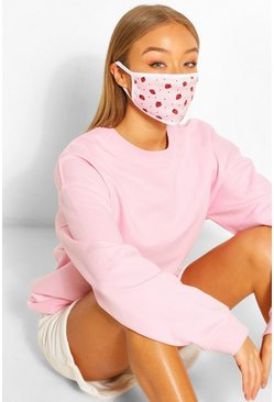 Strawberry Fashion Face Mask , Pink