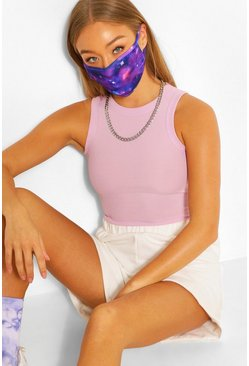 Blue Galaxy Fashion Face Mask