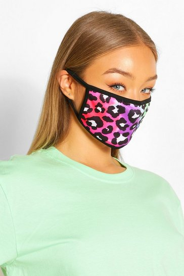 Multi Leopard Fashion Face Mask