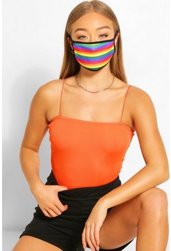 Rainbow Fashion Face Mask , Multi