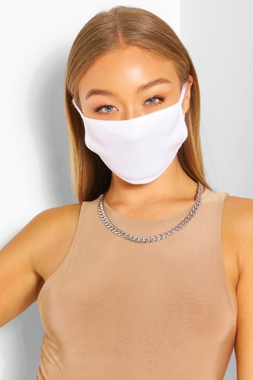 White Fashion Face Mask