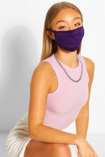 Purple Fashion Face Mask