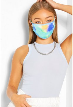Tie Dye Fashion Face Mask, Green