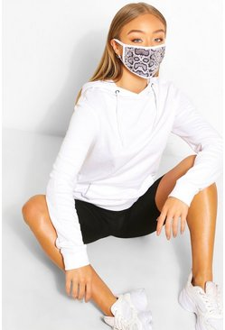 Grey Fashion mask med ormskinnsmönster