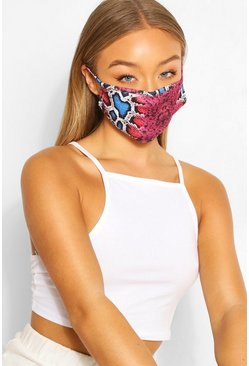 Multi Snake Fashion Face Mask