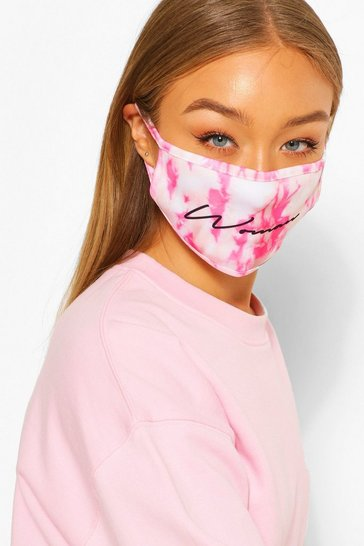 White Woman Tie Dye Fashion Face Mask