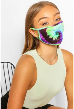 Twisted Tie Dye Fashion Face Mask , Multi