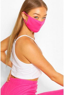 Pink Fashion Face Mask , Berry