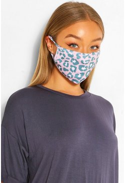 Leopard Fashion Face Mask , Pink
