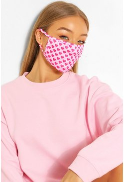 Mini Heart Fashion Face Mask , Pink