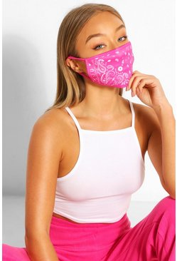 Pink Paisley Fashion Face Mask