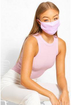 Woman Script Fashion Face Mask , Lilac