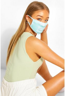 Check Fashion Face Mask , Blue