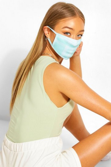 Blue Check Fashion Face Mask