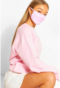 Check Fashion Face Mask , Pink