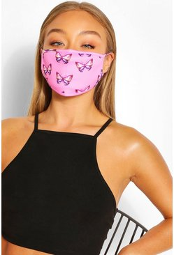 Butterfly Fashion Face Mask , Pink