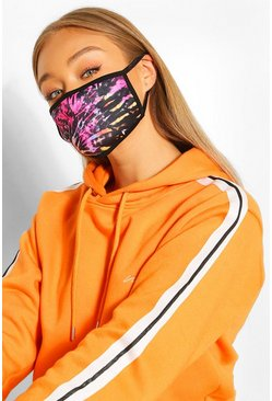 Tie Dye Fashion Face Mask, Pink