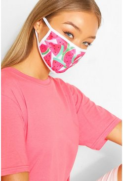 Watermelon Fashion Face Mask, Pink
