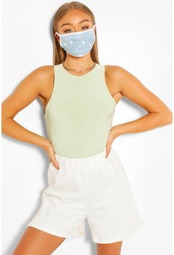 Star Fashion Face Mask, Blue
